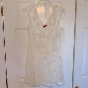 Red Saks Fifth Avenue White Dress